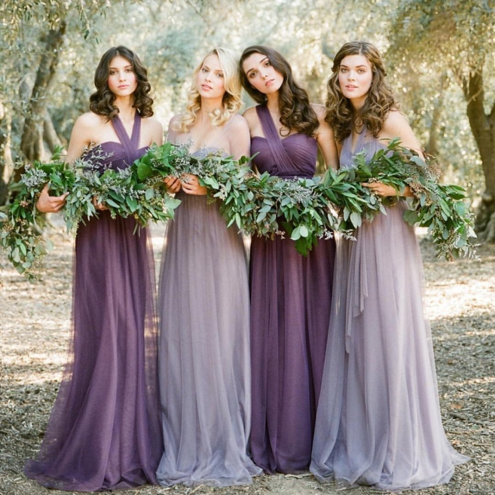 Pastel purple dress bridesmaid promotion shop for promotional vestidos de novia pastel mismatched purple and lavender bridesmaid dresses vintage vestido de festa longo ombrellifo Image collections