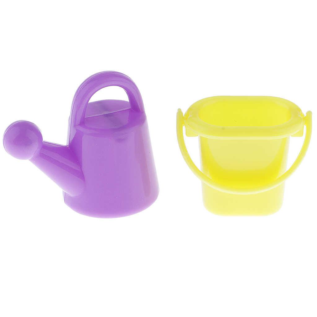 6 peças Ferramentas de Jardim de Rega de Plástico Pode para 1/6 Boneca Barbi Casa Decor Accs Mobiliário Clássico Brinquedos Infantis de Aniversário Xmas presente