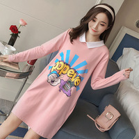 2018 Fashion Spring Autumn Maternity Dress Long Sleeve Dress Pregnant Womens Out Clothing For Pregnancy Casual Maternity Dresse