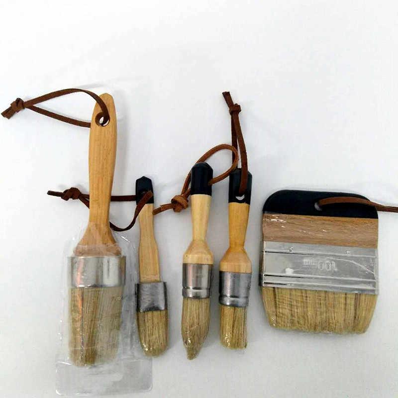 5 PC Handle ชอล์กแปรงขี้ผึ้งมือชุดเครื่องมือสีแปรงชี้แปรงชอล์กน้ำมันจิตรกรรม Art Supplies จัดส่งฟรี