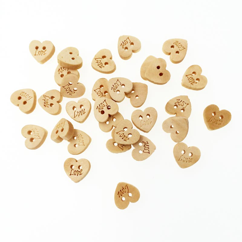 Buy 100pcs Heart With Love DIY Wooden Buttons For Clothing Decoration Buttons Scrapbooking Accessories Sewing Craft Supplies 10mm for $2.03 in AliExpress store