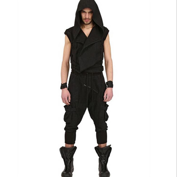 De Mono Talla Moda Pelo 44 Grande Negro Singer Casual Pantalones 2017 Hombre 27 Skinny Ropa Estilista Disfraces qwgz1xtf