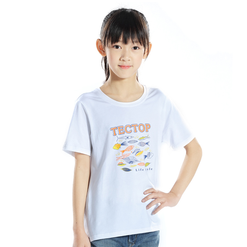 Tectop Outdoor Summer Kids Boys Girls Breathable Cotton Short-sleeve - Sportswear and Accessories