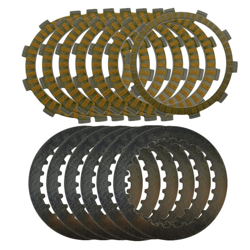 A set Motorcycle Engine Parts Clutch Friction Plates Kit & steel plates For HONDA CRM250 CRM 250 246A set Motorcycle Engine Parts Clutch Friction Plates Kit & steel plates For HONDA CRM250 CRM 250 246