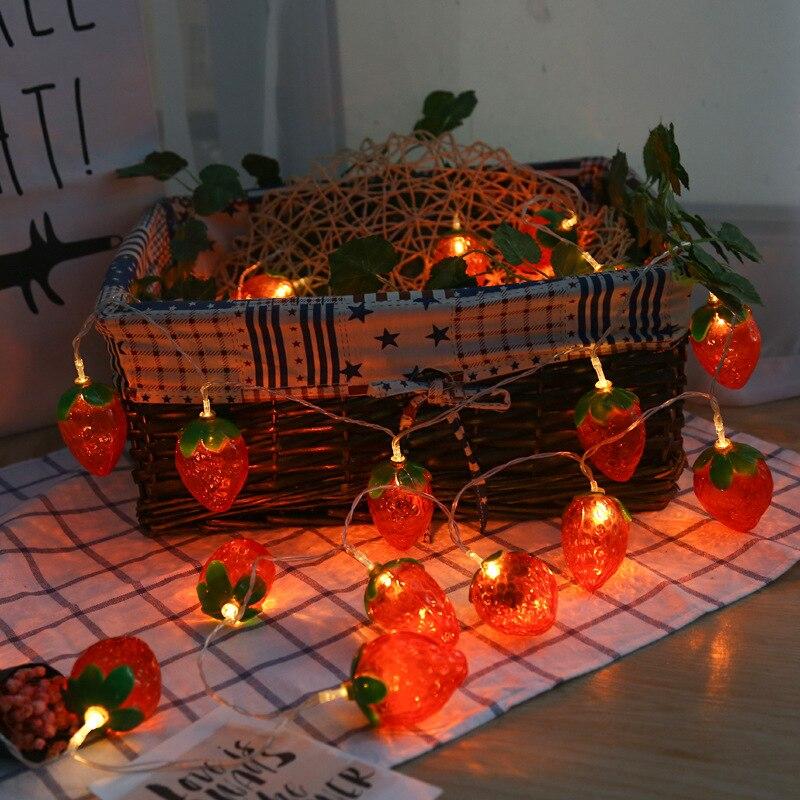 3M 20 LED String Light Outdoor Fairy Lights Garland Fruit Strawberry Garden Patio Wedding Christmas Decor Light Chain Waterproof
