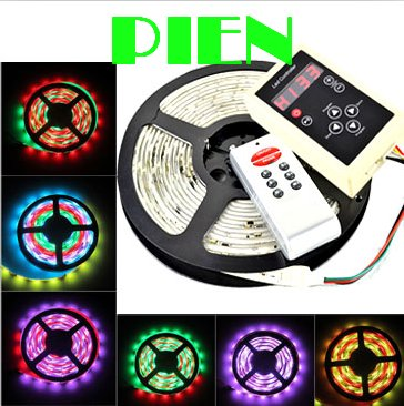 1903IC rgb led strip 5050 smd 180 led 5m digital intelligent lumiere luz dream color waterproof IP65+ RF controller by DHL 5 set smart controller 5m ws2811 led digital strip 30leds m with 30pcs ws2811 built in the 5050 smd rgb led chip