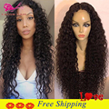 Natural Cheap Hair Synthetic Curly Wig Black Synthetic Lace Front Wigs With Baby Hair Full Lace Front Curly Wigs For Black Woman