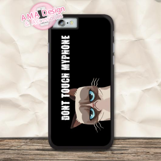 Dont Touch My Phone Grumpy Cat Protective Case For iPhone X 8 7 6 6s Plus 5 5s SE 5c 4 4s For iPod Touch