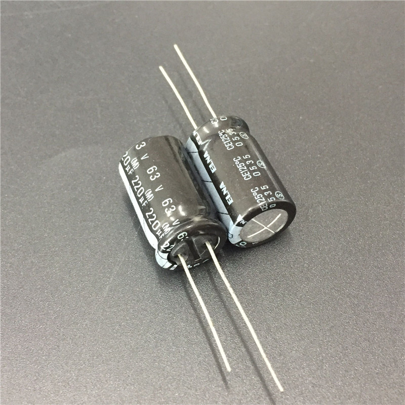 5pcs <font><b>220uF</b></font> <font><b>63V</b></font> ELNA 12.5x20mm High reliability 125 Degree 63V220uF Aluminum Electrolytic Capacitor image