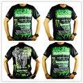 2016 novo off-road corrida casual-manga curta T-shirt Da Motocicleta T-shirt camisa de suor wicking quick-secagem