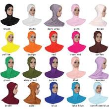 Muslim headwear Cotton cross Scarf Hijabs underscarf instant hijab