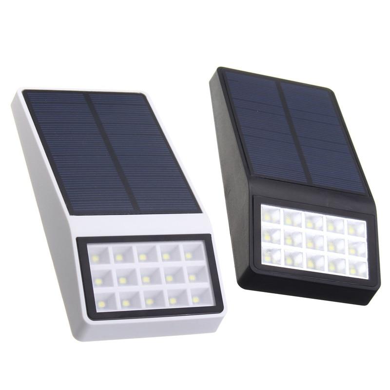 Waterproof Light Sensor Solar Powered 15 LED Solar Light induction Outdoor LED Garden Light Emergency Wall Lamp