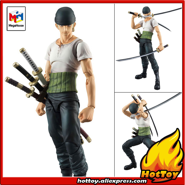 100% Original Megahouse Variable Action Heroes Action Figure - Roronoa Zoro PAST BLUE from ONE PIECE prettyangel genuine megahouse variable action heroes one piece dracule mihawk action figure