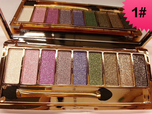Eye Shadow Shiny Eyeshadow Nine Colors Eye Makeup Naked Palette Luminous Radiant Natura Easy To Wear Brighten Cosmetics Beauty Tools Beauty & Health