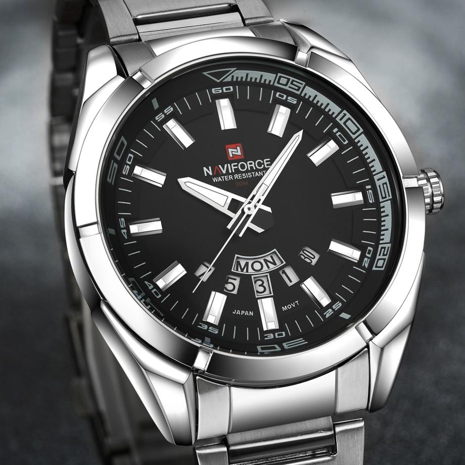 Fashion Top Brand Men s Military Dress Silver Quartz Steel Watches Casual Waterproof Clock Wristwatch Relogio