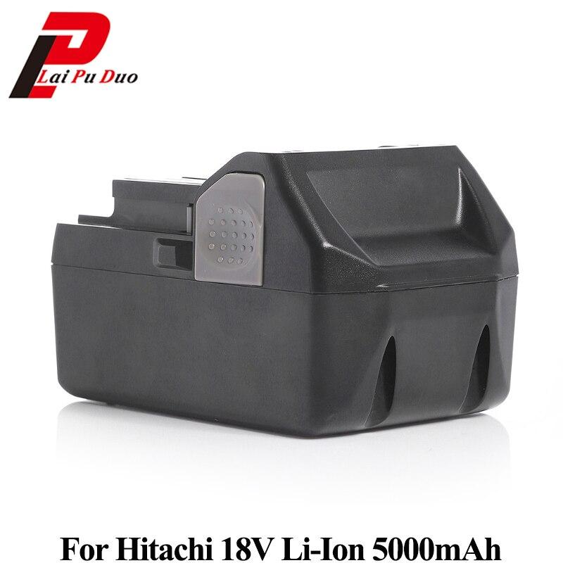 18v 5000mAh Li-Ion battery Replacement for Hitachi: DS18DSAL,326241,BSL1830,DH18DSL,326240,UB18DSL,WH18DSL new arrival 14 4v 4 0ah li ion replacement battery for hitachi bsl1430 bsl1415 326236 327729 326824 326823 bcl1430 c 2 wholesale