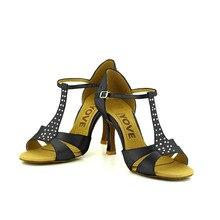YOVE Dance Shoe Satin Women's Latin/ Salsa Dance Shoe 3.25″ Flare High Heel More Color w134-20