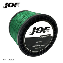 1000m 8 strands Green Yellow Gray PE Braided Fishing Line Multifilament Fishing Rope Tackle 15 20