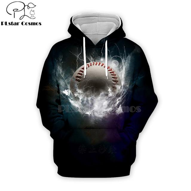 PLstar Cosmos sport baseball 3D Print Hoodies/Sweatshirt/Jacket/shirts Tees Men Women Galaxy Unisex streetwear Drop shipping-6
