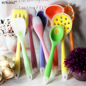 1pc 8 Styles Nylon Silicone Cookware Colorful Spoon Spatula Brush Colander Cooking Utensils Kitchen Tools 1