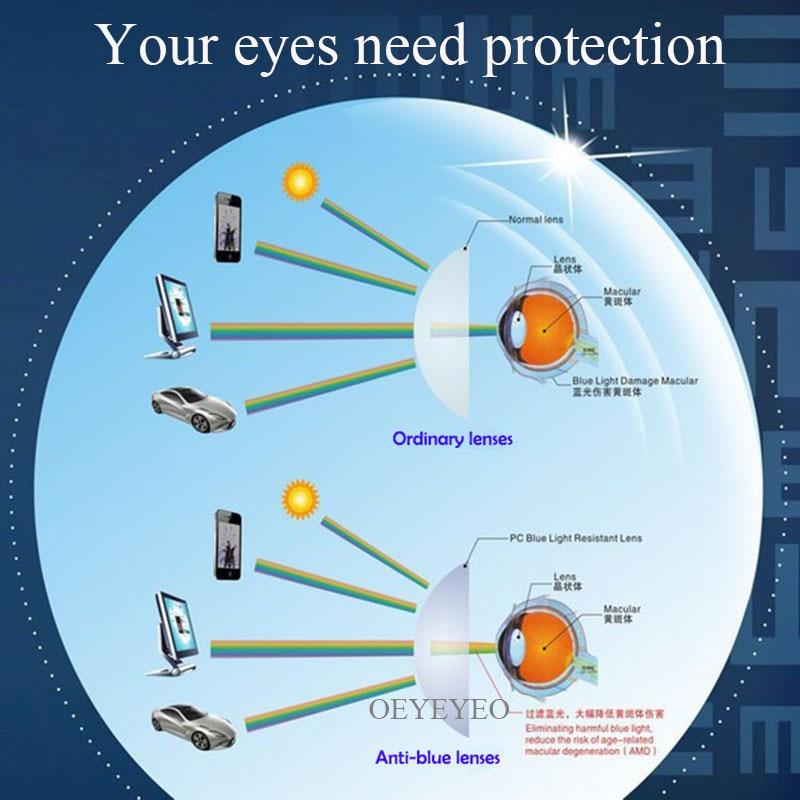 Anti-Blue Ray Lens Myopia Prescription Optical Lenses Glasses Lens For Eyes Protection Reading Eyewear lentes opticos Pakistan