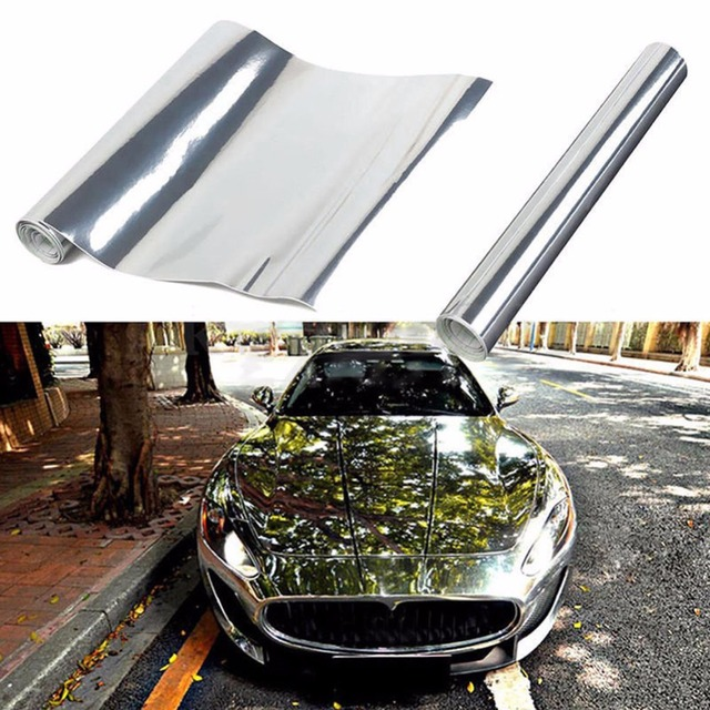 $ 2.25 Silver Auto Car Styling Body Electro Coating Change Color Film Chrome Plating Mirror Vinyl Wrap Electroplate Sticker Decal Sheet