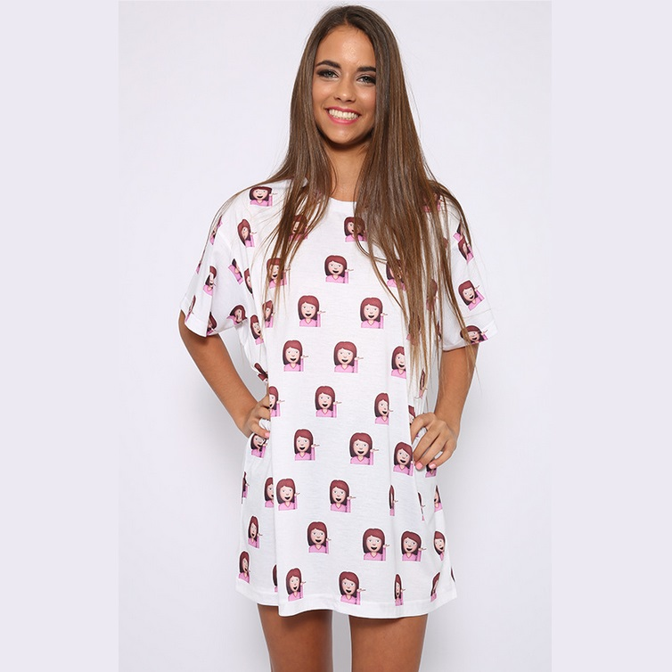 Witte jurk tshirt