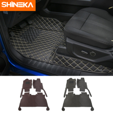 SHINEKA Mats & Carpets For Ford F150 2015 Up Car Interior Leather Floor Foot Pads Kit Decoration Accessories