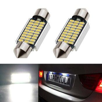 2x купол Festoon 3014SMD без ошибок яркий белый светодиодный светильник номерного знака для BMW E36 E39 E46 E90 E91 E92 E53 E60 E65 E71