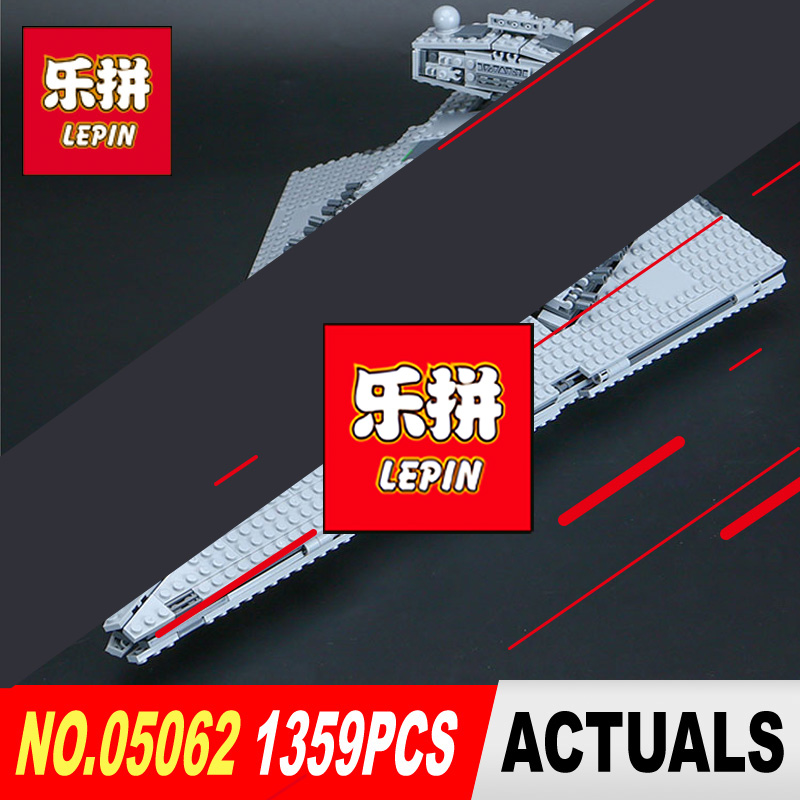 LEPIN 05062 1359Pcs Star Series Wars Emperor starship Model Building Kit Blocks Bricks Compatible with 75055 Children Toys lepin 05035 star wars death star limited edition model building kit millenniums blocks puzzle compatible legoed 75159
