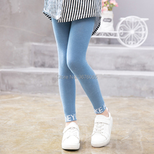 3 12Y baby girls warmer cotton leggings warmer Ankle pants for kids child English alphabet Embroidery