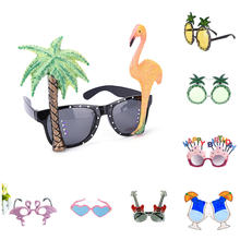 1Pcs Beach Party Novelty Coconut Sunglasses Flamingo Hawaiian Funny Glasses Goggles Event Birthday Party Supplies Decoration(China)
