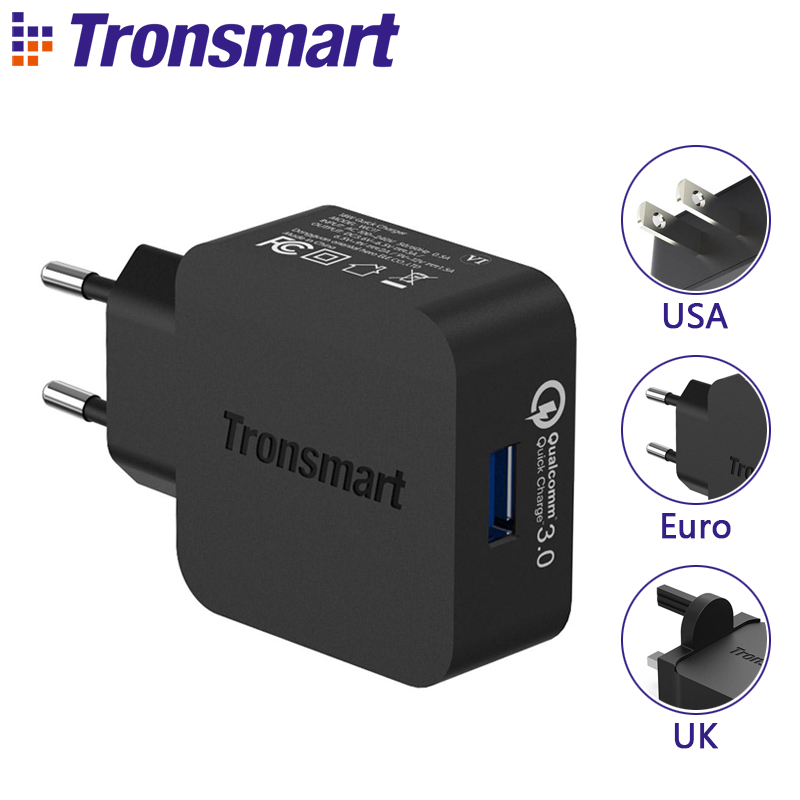 [USB Type C or Micro USB 1.8M Cable] Tronsmart WC1T Quick Charge 3.0 USB Charger for Xiaomi Mi5 for LG G5 Elephone S7 EU US UK electronics