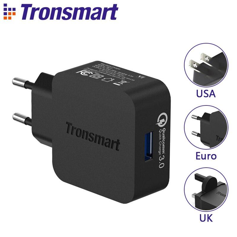 [Tipo C ou Micro USB 1.8 M Cabo USB] Tronsmart WC1T Quick Charge 3.0 Carregador USB para Xiaomi Mi5 para LG S7 Elephone G5 UE EUA REINO UNIDO