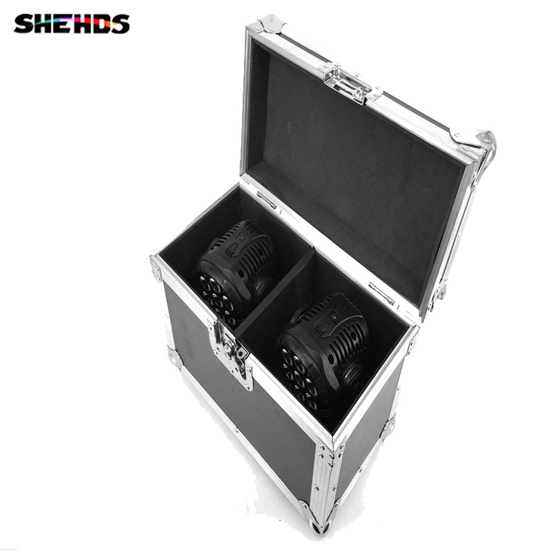 Flight Case With 2/4 Pieces LED Wash Moving Head 7x12W RGBW Lighting For Disco KTV Party Fast Shipping,SHEHDS