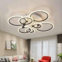 Luces de techo LED modernas para comedor, sala de estar, lámpara de cocina, accesorios para el hogar, restaurante, plafón con mando a distancia para dormitorio