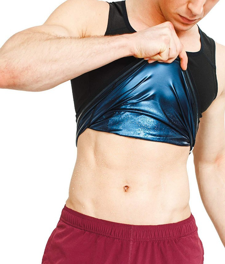 Plus Size Men Neoprene Sweat Sauna Vest Body Shapers Vest Waist Trainer Slimming Vest Shapewear Weight Loss Waist Shaper Corset