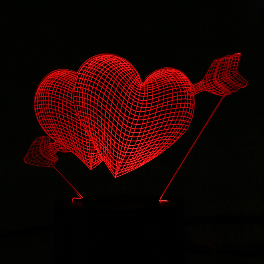 Us 10 49 35 Off Love Heart Touch Sensor Led Night Light Children Luminaria Lamp Atmosphere Bedroom Nightlight Holiday Decoration In