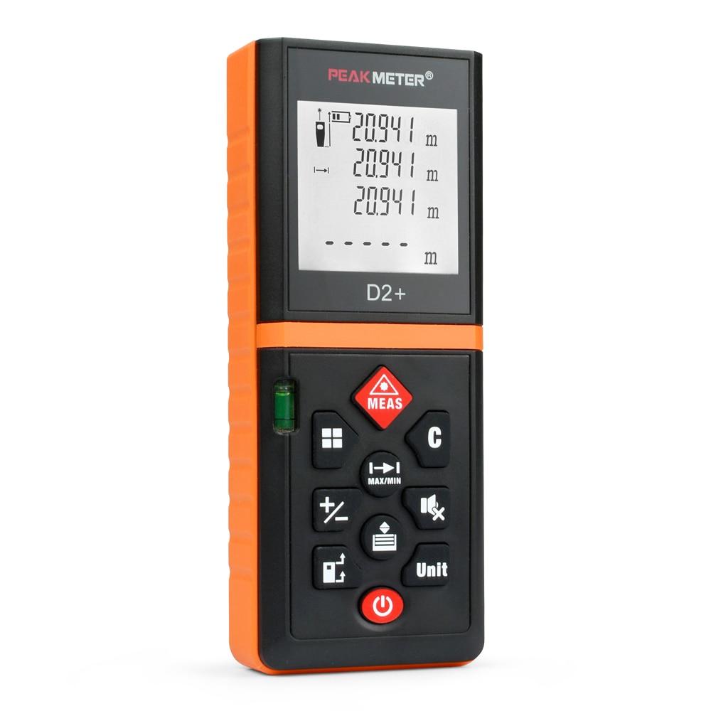 PEAKMETER D2+ Tools Laser Distance Meter 40m Distance Measurer Meter Rangefinder And Laser Distance Meter Power Button телевизор 43 lg 43lj500v черный 1920x1080 50 гц usb