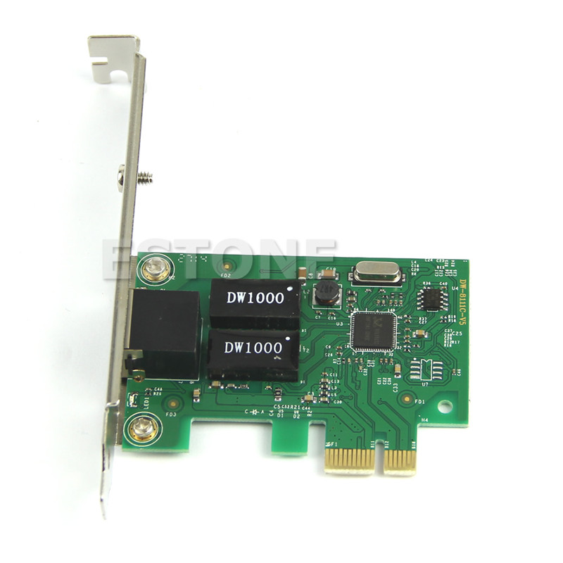 Gigabit Ethernet PCI-E Network Controller Card 10/100/1000Mbps RJ45 RJ-45 LAN Adapter Converter