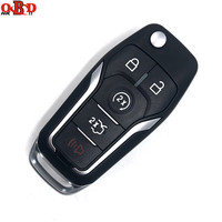 HKOBDII 433MHZ With 4D63 4D60 Chip for Ford Focus Mondeo S MAX Ecosport 2013 2014 OEM Factory Keyless Entry Flip Key Fob Remote