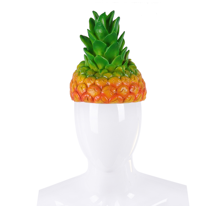 Collection Here H&zy Adult Halloween Carnival Party Fancy Pineapple Cosplay Cartoon Funny Fruit Costume Hats Regular Tea Drinking Improves Your Health