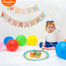 HappyBirthday Banners Jute Rustic Happy 1st Birthday Decoration Party Supplies Kids Home DIY Decora Vintage Bunting