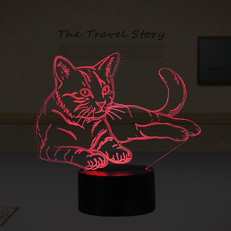 Luzes da Noite noturna de animais 3d ilusão Feature 1 : Atmosphere Lamp