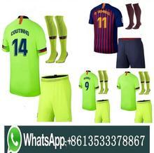 1dc11a7e297 Top 2018 MESZ Jersey soccer 2019 Barcelona Camisas Dembele Messi INIESTA  INIESTE football shirt 18 19 KitS +sock SUARE