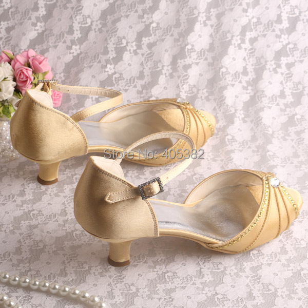 Wedopus New Beautiful Ladies Fancy Low Heel Shoes Sandals Evening ...