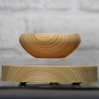 ABS Magnetic Suspended Plant Flower Pot Grain Round LED Levitating Indoor Air Floating Pot For Home