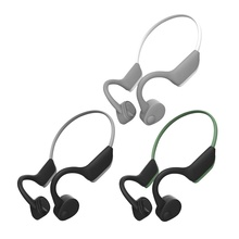 S.Wear J20 Bone Conduction Headphone Bluetooth 5.0 Stereo Hands-free Sports Headphones with Mic for Driving Running Cycling