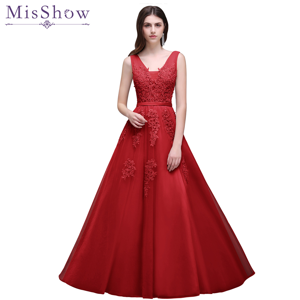 Cheap Under 50$ A-Line   Prom     Dress   2018 Long Short Applique Vestido de Festa Sleeveless Formal Evening Gown Party   Prom     Dresses