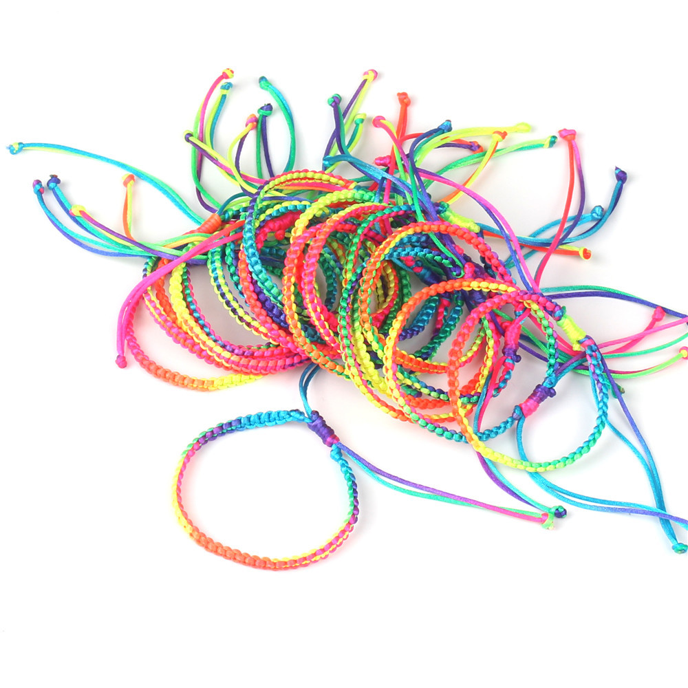 Luck Woven Colorful Bracelets for Women and Men Handmade Knots Woven Simple Fashion Luck Gift Bracelets